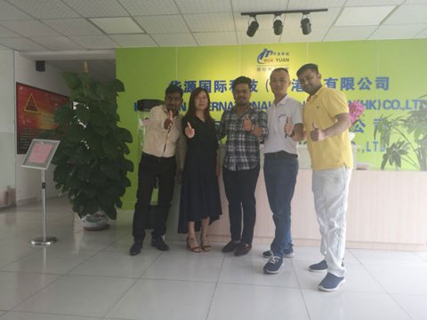 Warmly welcome Indian customers to visit the huayuan company